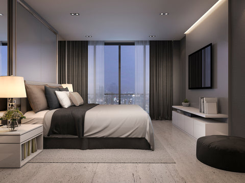 modern luxury bedroom suite