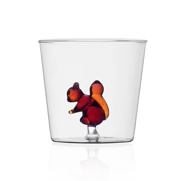 Squirrel design tumbler glass