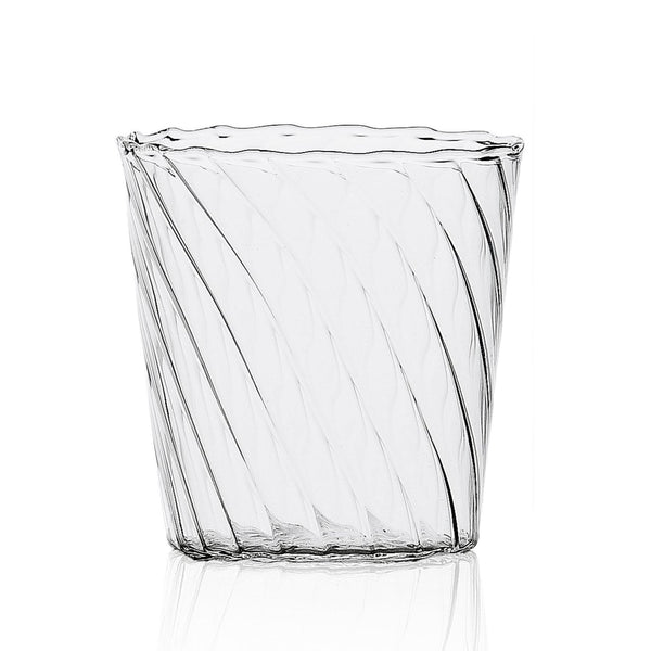 Rippled tumbler glass interest decorative Italian tumbler