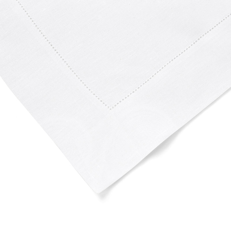 Kenmare Fine Irish Linen Hemstitch Placemat in Bright White