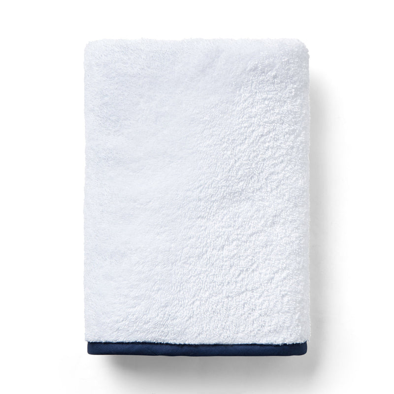 Custom Straight Pique Bath Towels, White