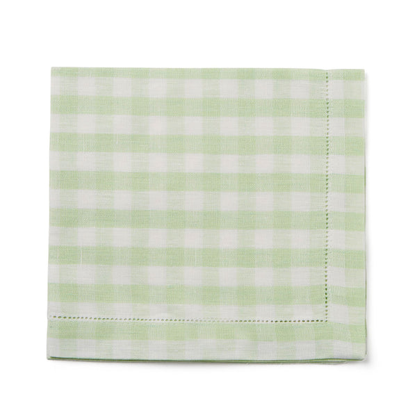 pastel green gingham check napkin