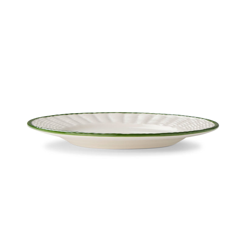 Basket Italian Plates, Green Trim