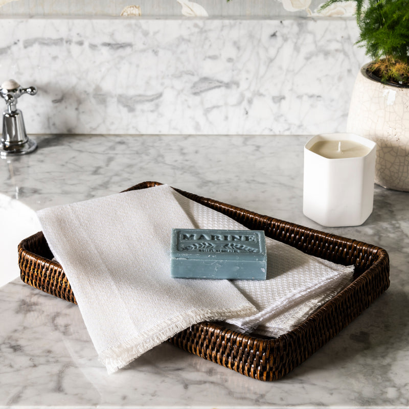 Large Rattan Bathroom Tray