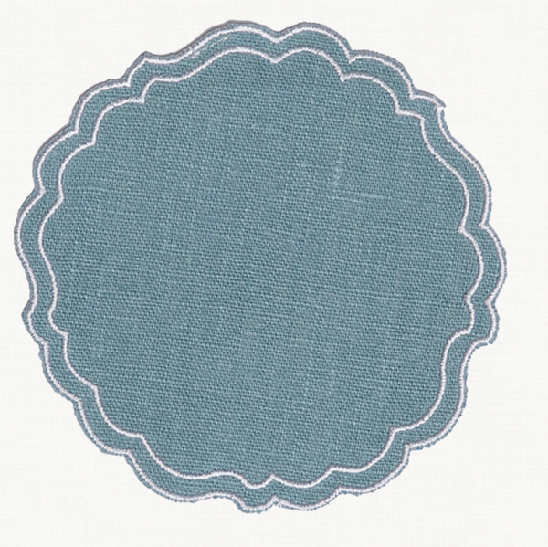 Custom Greta Waxed Italian Linen Coaster - Choose Colour