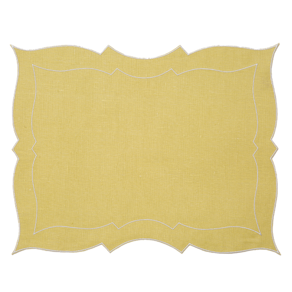 Custom Daniella Coated Italian Linen Placemat