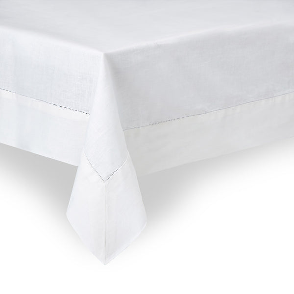 Classic Linen Tablecloth, Soft White