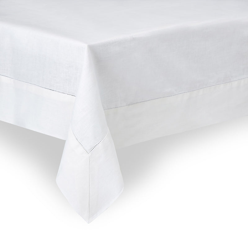 Linen Tablecloth in White