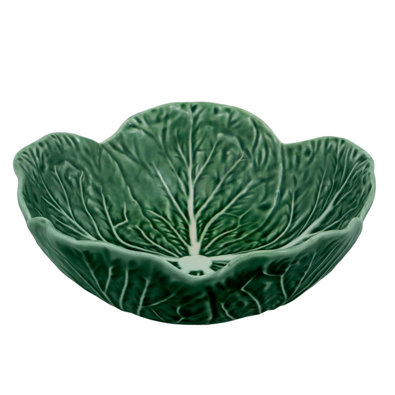 Bordallo Pinheiro green cabbage bowl 17.5cm medium large