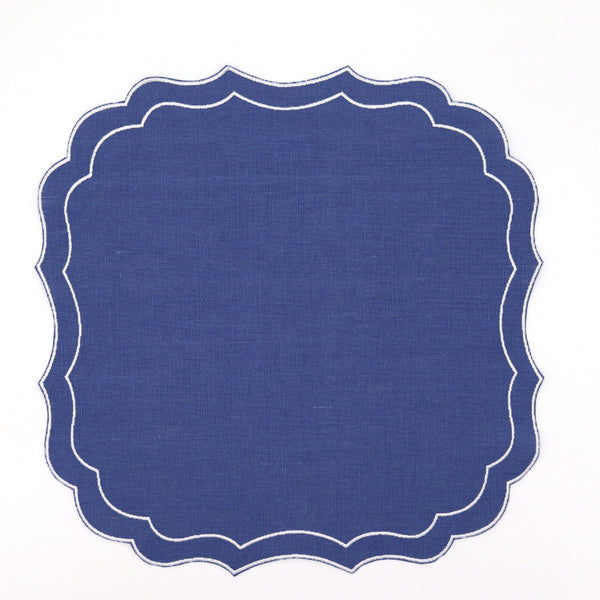 Set of 4 Stella Waxed Italian Linen Placemats, Various Colours