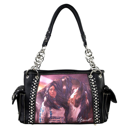 Montana West Horse Art Concealed Handgun Handbag-Laurie Prindle Collection - carriesherself.com