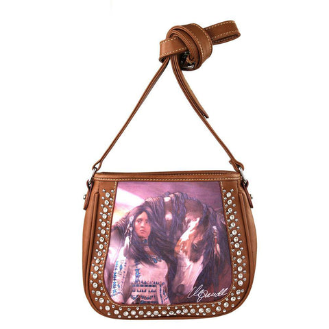 Montana West Concealed Carry Native American Messenger Bag Laurie Prindle Collection - carriesherself.com