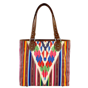 Montana West Colorful Striped Serape Concealed Carry Tote Bag MW310G-8281 - carriesherself.com