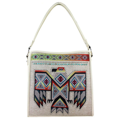 Montana West Canvas Thunderbird Aztec Concealed Carry Handbag - carriesherself.com
