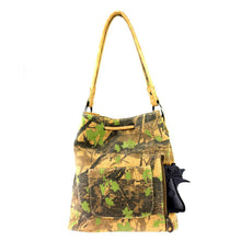 Montana West Synthetic Leather/Canvas Camo Concealed Carry Drawstring Bucket Tote Bag MW361G-8108 - carriesherself.com