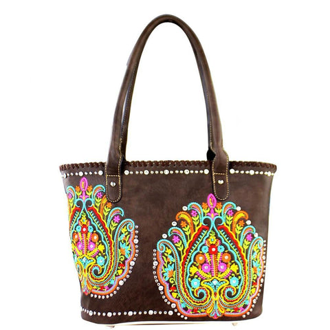 MW363G-8317 Montana West Embroidered Collection Concealed Handbag - carriesherself.com