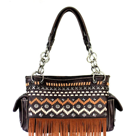 MW384G-8085 Montana West Fringe Collection Concealed Handgun Satchel - carriesherself.com