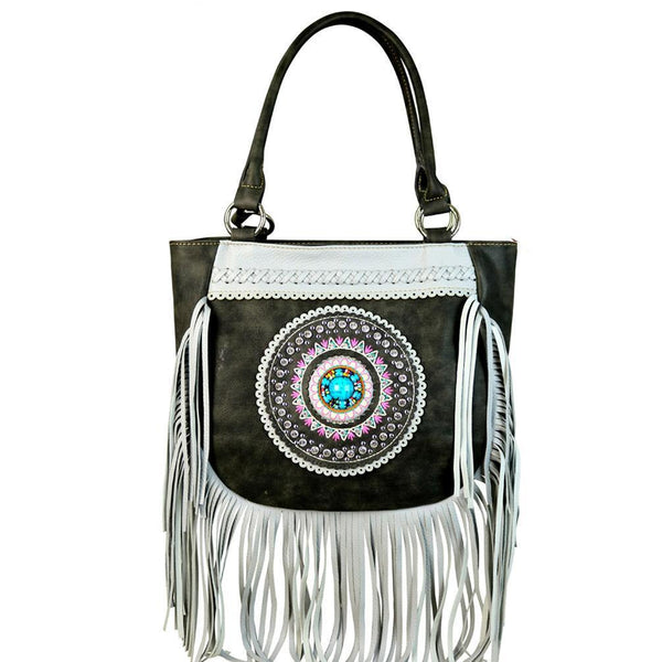 MW598G-8306 Montana West Tribal Collection Concealed Handgun Tote - carriesherself.com