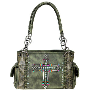 Montana West Arrow Patterned Concealed Carry Satchel Purse MW606G-8085