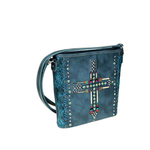 Montana West Arrow Patterned Concealed Carry Crossbody Purse MW606G-9360