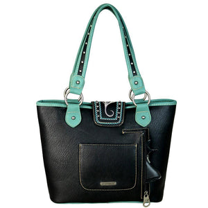 MW657G-8317 Montana West Buckle Collection Concealed Handgun Tote - carriesherself.com