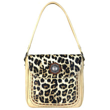 Leopard Print Concealed Carry Hobo Purse Concho Flap - carriesherself.com