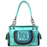 MW676G-8085 Montana West Embroidered Collection Concealed Carry Satchel - carriesherself.com