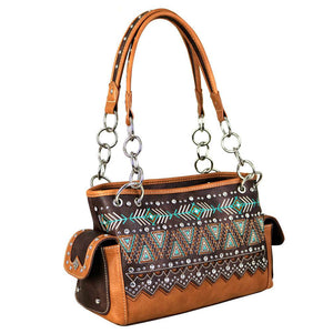 Aztec Tribal Concealed Carry Satchel Purse by Montana West - carriesherself.com