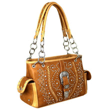MW687G-8085 Montana West Buckle Collection Concealed Carry Satchel - carriesherself.com