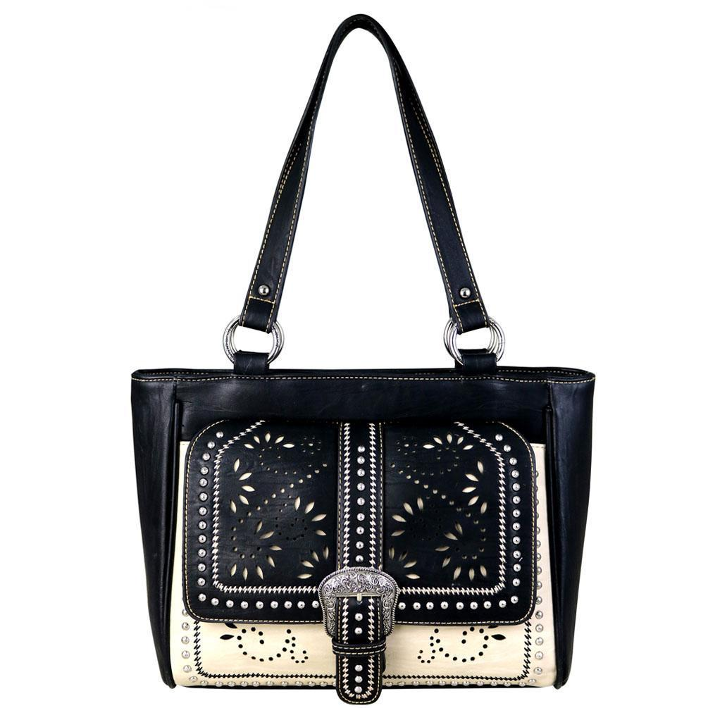 MW696G-8314 Montana West Buckle Collection Concealed Carry Tote - carriesherself.com