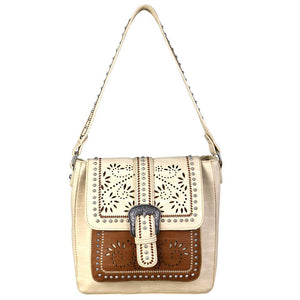 Montana West Contrasting Flap Concealed Carry Hobo Purse MW696G-916 - carriesherself.com