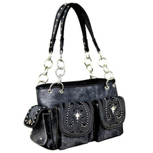MW701G-8085 Montana West Embroidered Collection Concealed Carry Satchel - carriesherself.com