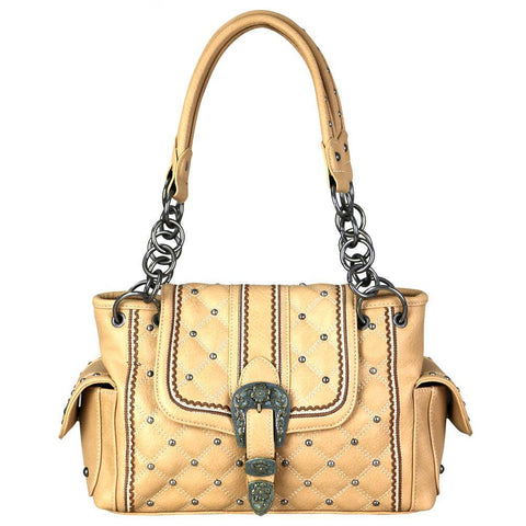 MW703G-8085 Montana West Buckle Collection Concealed Carry Satchel - carriesherself.com