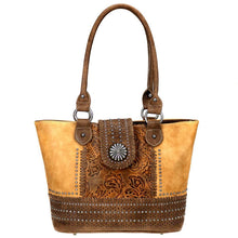Montana West Floral-Embossed Whipstitch Concealed Carry Tote Bag MW704G-8317 - carriesherself.com