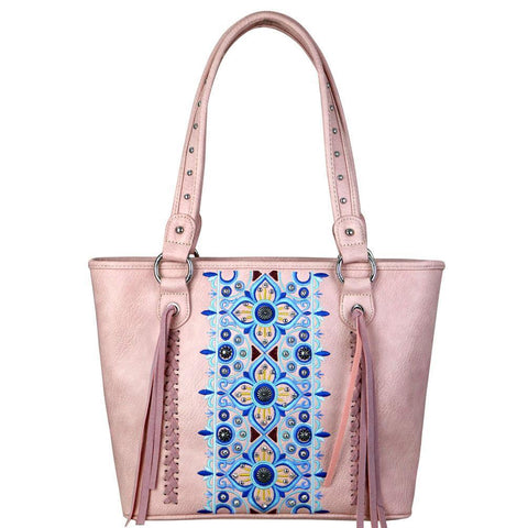 MW705G-8317 Montana West Embroidered Collection Concealed Carry Tote - carriesherself.com