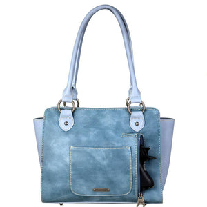 MW707G-8250 Montana West Fringe Collection Concealed Handgun Trapezoid Tote - carriesherself.com