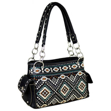 MW709G-8085 Montana West Aztec Collection Concealed Carry Satchel - carriesherself.com