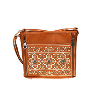 Floral Embroidered Concealed Carry Crossbody Purse MW710G-9360 - carriesherself.com