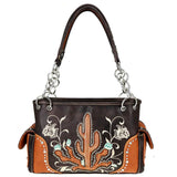 MW757G-8085 Montana West Embroidered Collection Concealed Carry Satchel - carriesherself.com