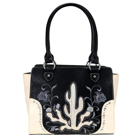 MW757G-8250 Montana West Embroidered Collection Concealed Carry Trapezoid Tote - carriesherself.com