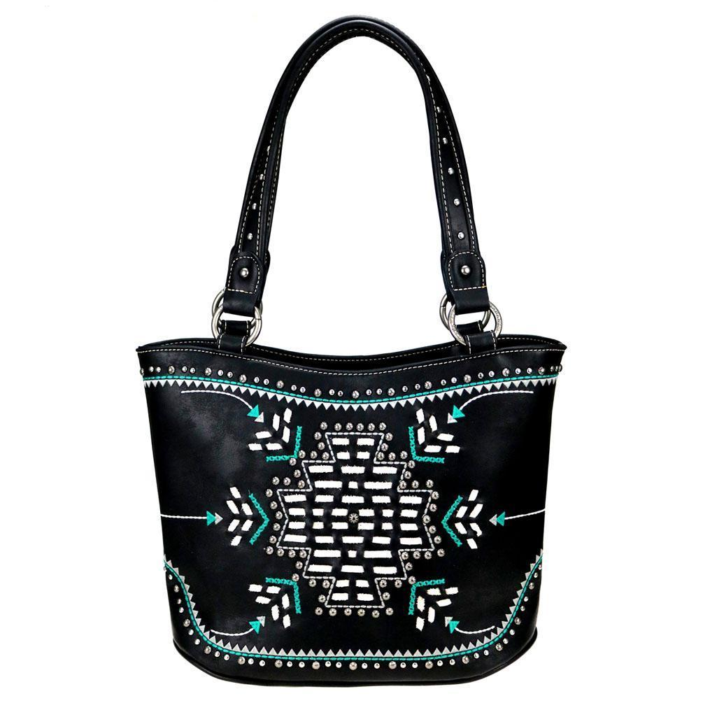 MW759G-8005 Montana West Aztec Collection Concealed Carry Tote Bag - carriesherself.com