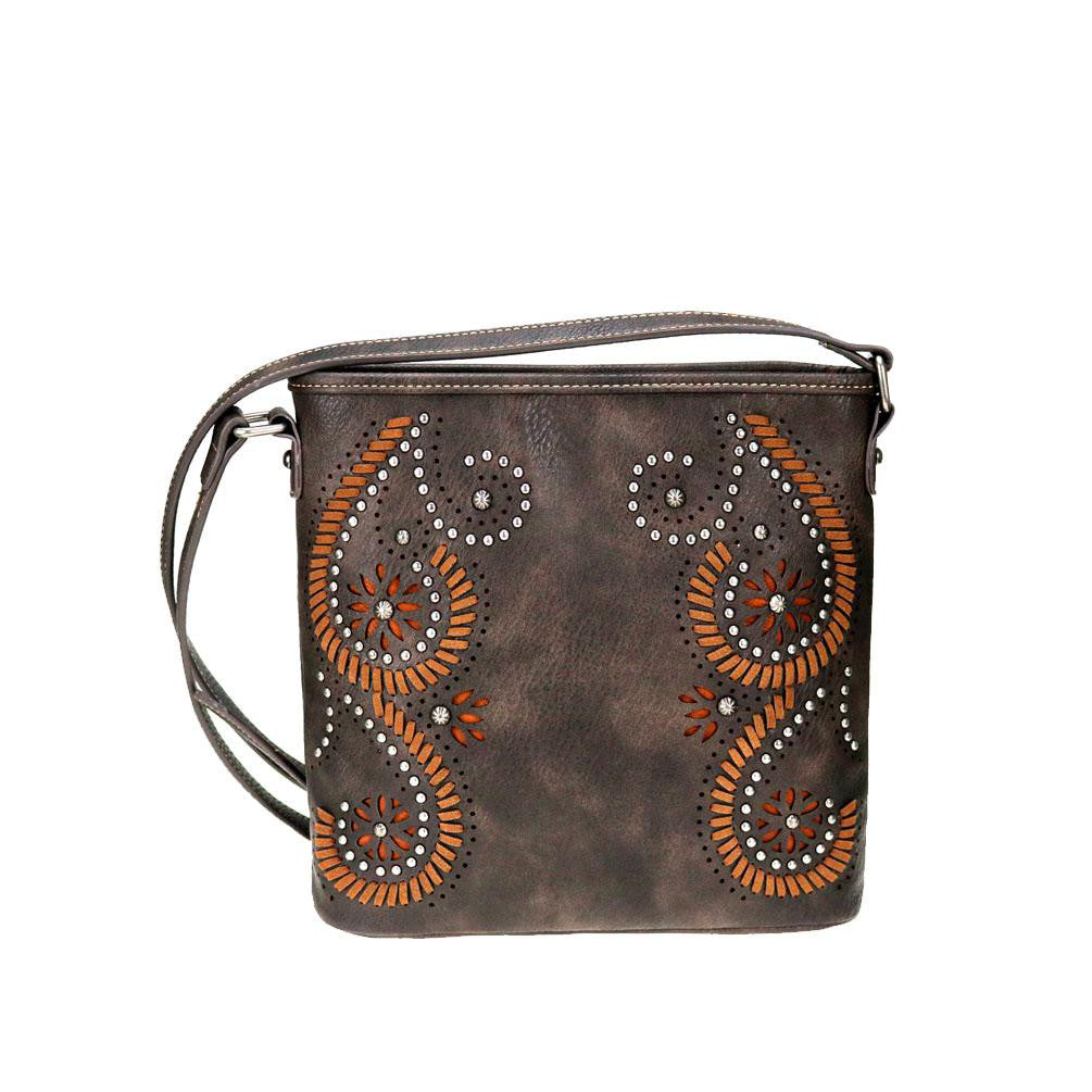 Montana West Cut-Out Pattern Concealed Carry Crossbody MW771G-9360