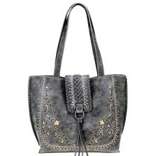 Embroidered Whipstitch Flap Concealed Carry Tote Bag MW792G-8318 - carriesherself.com