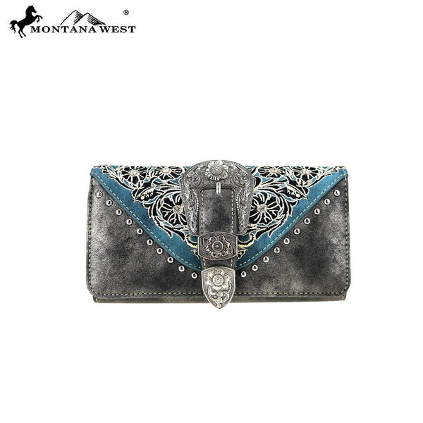 Montana West Embroidered Collection Wallet MW795-W018