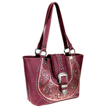 Scallop Pattern Concealed Carry Tote Purse MW799G-8317