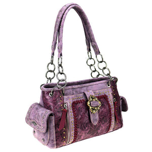 Floral Montana West Concealed Carry Satchel Purse MW803G-8085