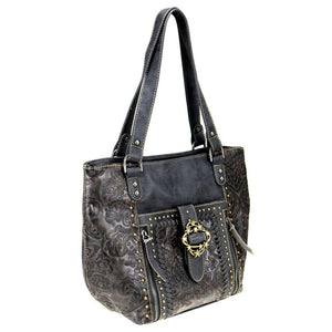 Floral Montana West Concealed Carry Tote Bag MW803G-8318