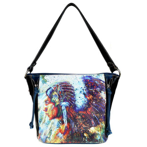 Aztec Indian Chief Concealed Carry Hobo Purse MW812G-918