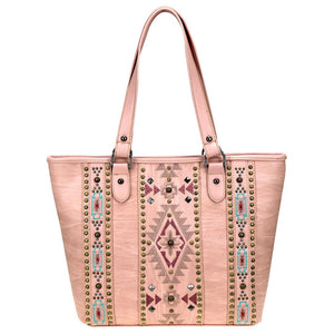 Diamond Aztec Pattern Concealed Carry Tote Bag MW821G-8317