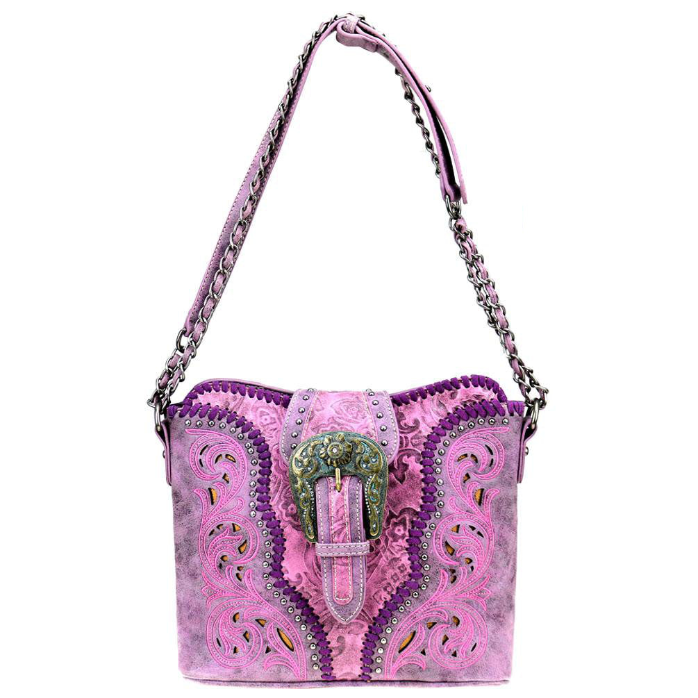 Floral Interchangeable Shoulder/Crossbody Concealed Carry Purse MW823-918